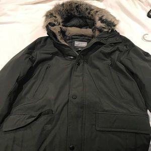 Men's fur hoaded coat